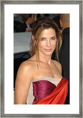 Sandra Bullock At Arrivals For All Framed Print by Everett
