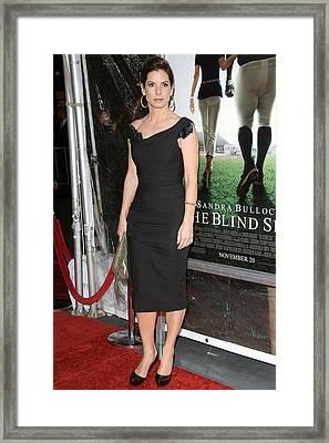 Sandra Bullock At Arrivals For The Framed Print