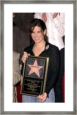 Sandra Bullock At The Induction Framed Print