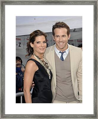 Sandra Bullock, Ryan Reynolds Framed Print by Everett