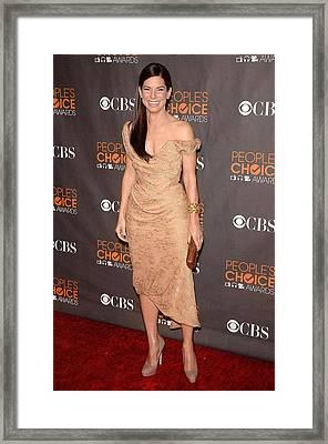 Sandra Bullock Wearing A Vivienne Framed Print by Everett