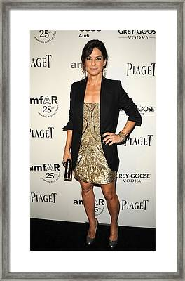 Sandra Bullock Wearing An Allsaints Framed Print by Everett