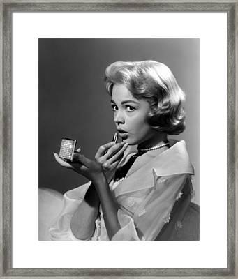 Sandra Dee, Ca. Late 1950s Framed Print by Everett