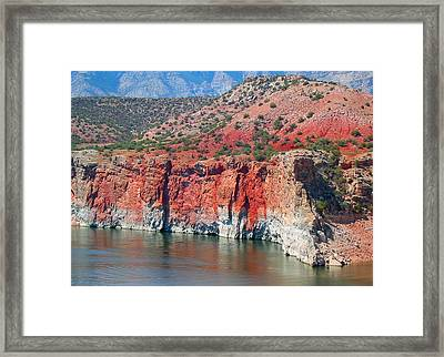 Sandstone And The Sea Framed Print