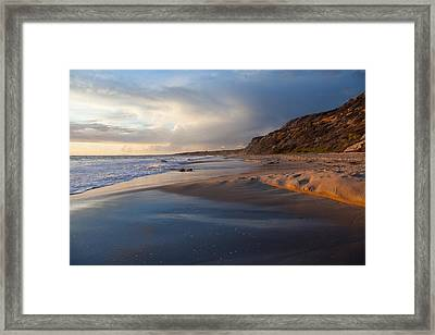 Sandstone Bluffs  Crystal Cove State Beach Framed Print by Cliff Wassmann