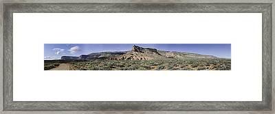 Framed Print featuring the photograph Sandstone Cliffs Escalante National Monument by Gregory Scott