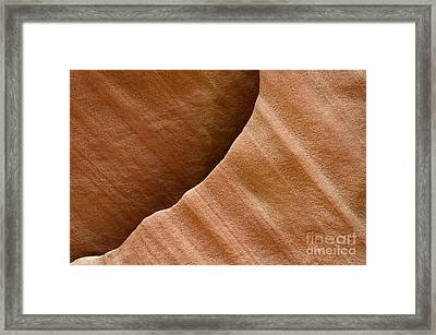 Sandstone Detail Framed Print by Bob Christopher