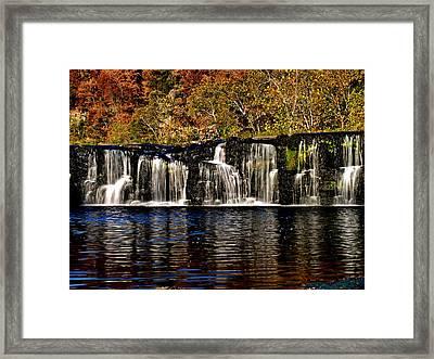 Sandstone Falls In Autumn Framed Print by Matthew Winn