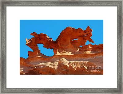 Sandstone Magic Framed Print by Bob Christopher