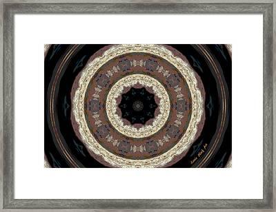 Sandstone Mandala Framed Print