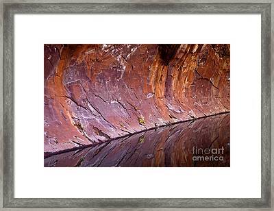 Sandstone Reality Framed Print by Mike  Dawson