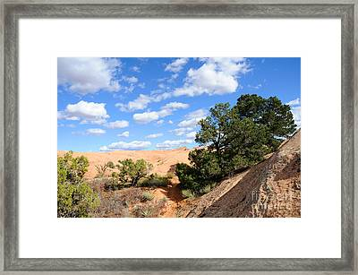 Sandstone Sky Framed Print by Gary Whitton