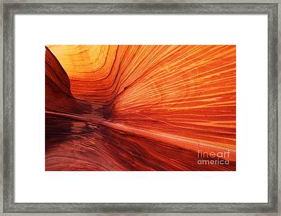 Sandstone Wave  Framed Print by Dennis Hedberg