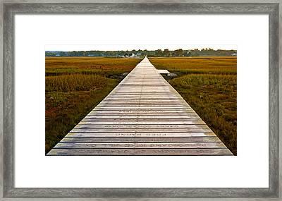 Sandwich Boardwalk Framed Print