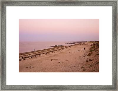 Sandwich Town Beach Framed Print by Frank Winters