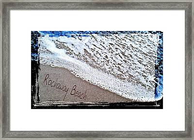 Sandwriting Framed Print by Rita Tortorelli