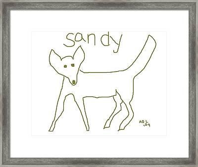 Sandy Framed Print by Anita Dale Livaditis