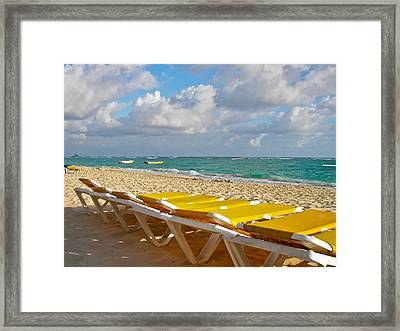 Sandy Beach  Framed Print by Ann Murphy