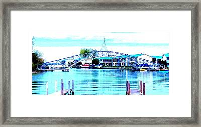 Framed Print featuring the photograph Sandy Beach Bridge by Lisa Brandel
