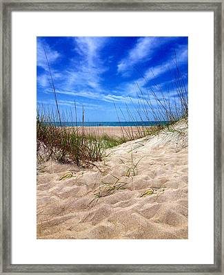 Sandy Dunes Framed Print by Joan Meyland