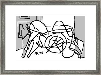 Sandy In Wheelchair 3 Framed Print by Anita Dale Livaditis