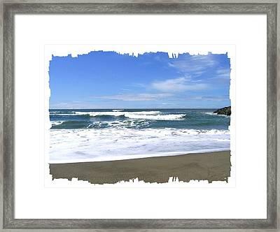 Sandy Shores Of Oregon Framed Print by Will Borden