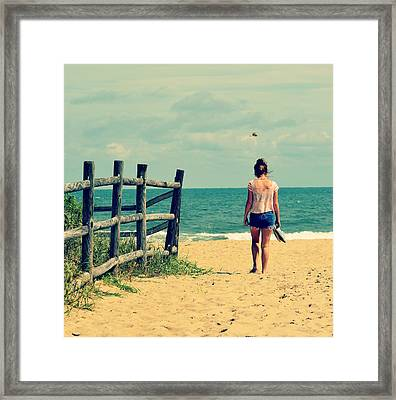 Sandy Toes Framed Print