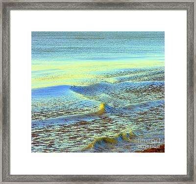 Sanibel Sea Framed Print by Anne Gordon