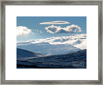 Sannir Mountains Framed Print by Issam Hajjar