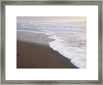 Sans Footprints Framed Print