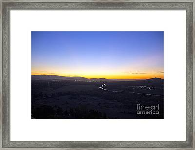 Santa Ana River Framed Print by Molly Heng