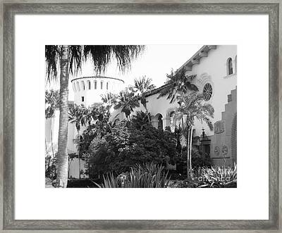 Framed Print featuring the photograph Santa Barbara Courthouse by Ann Johndro-Collins