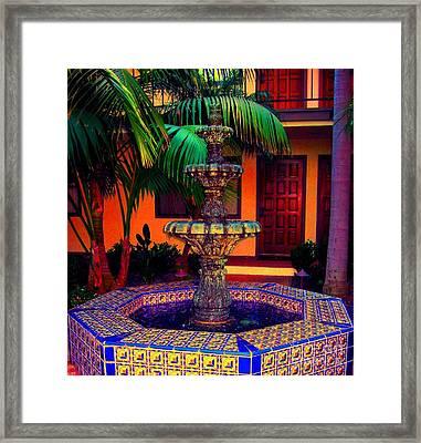 Santa Barbara Fountain Framed Print by Ann Johndro-Collins