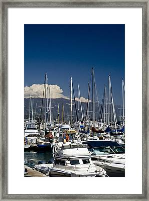 Santa Barbara Harbor Framed Print by Gary Brandes