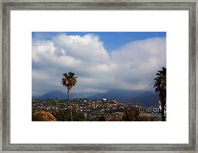 Santa Barbara Hills California Framed Print by Susanne Van Hulst