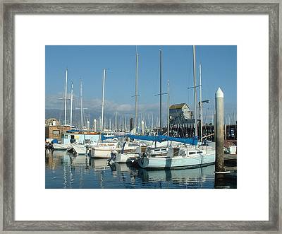 Santa Barbara Marina Framed Print by Linda Pope