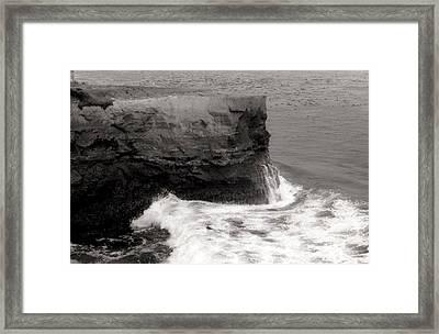 Framed Print featuring the photograph Santa Cruz Blues.... by Tanya Tanski