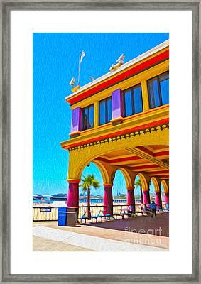 Santa Cruz Boardwalk - Arcade -01 Framed Print by Gregory Dyer