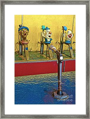 Santa Cruz Boardwalk - Clown Game - 02 Framed Print by Gregory Dyer