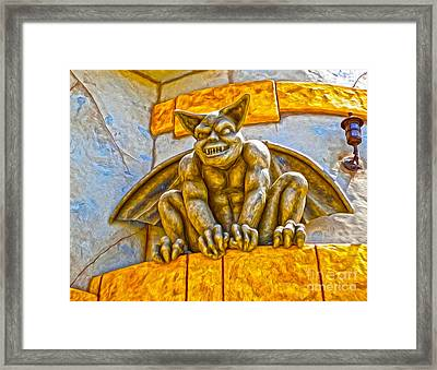 Santa Cruz Boardwalk - Demon - 01 Framed Print by Gregory Dyer
