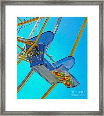 Santa Cruz Boardwalk - Ferris Wheel - 03 Framed Print by Gregory Dyer