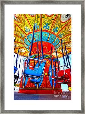 Santa Cruz Boardwalk - Tilt-a-whirl - 02 Framed Print by Gregory Dyer