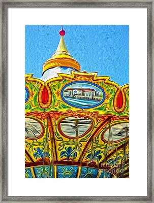 Santa Cruz Boardwalk - Tilt-a-whirl - 03 Framed Print by Gregory Dyer