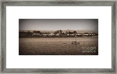Santa Cruz Boardwalk Sepia Framed Print by Garnett  Jaeger