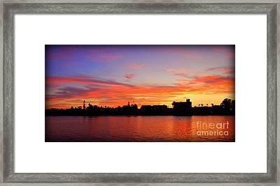 Santa Cruz Sunset 2 Framed Print