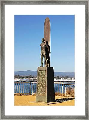 Santa Cruz Surfer Statue Framed Print by Paul Topp