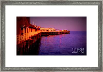 Santa Cruz Wharf Framed Print