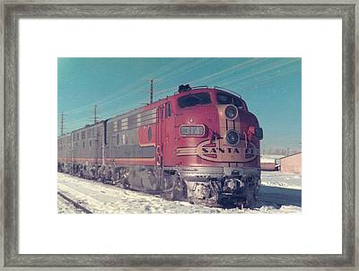 Santa Fe A And B Units At Gallup New Mexico Framed Print