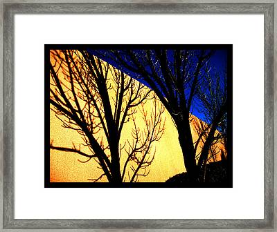 Framed Print featuring the photograph Santa Fe Afternoon by Susanne Still