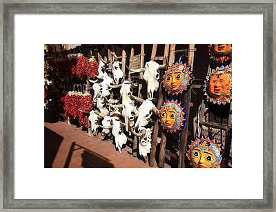 Santa Fe Market Framed Print by Frank Romeo